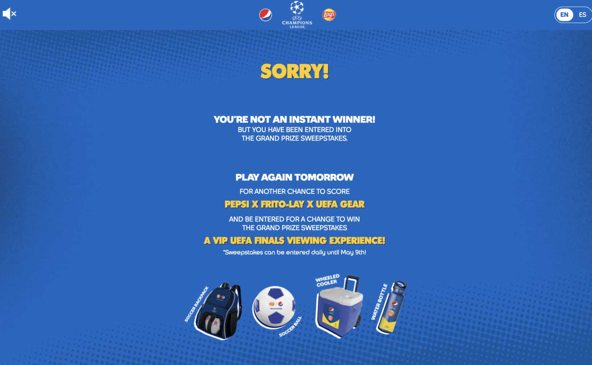 Pepsi + Lays Instant Win Promotion